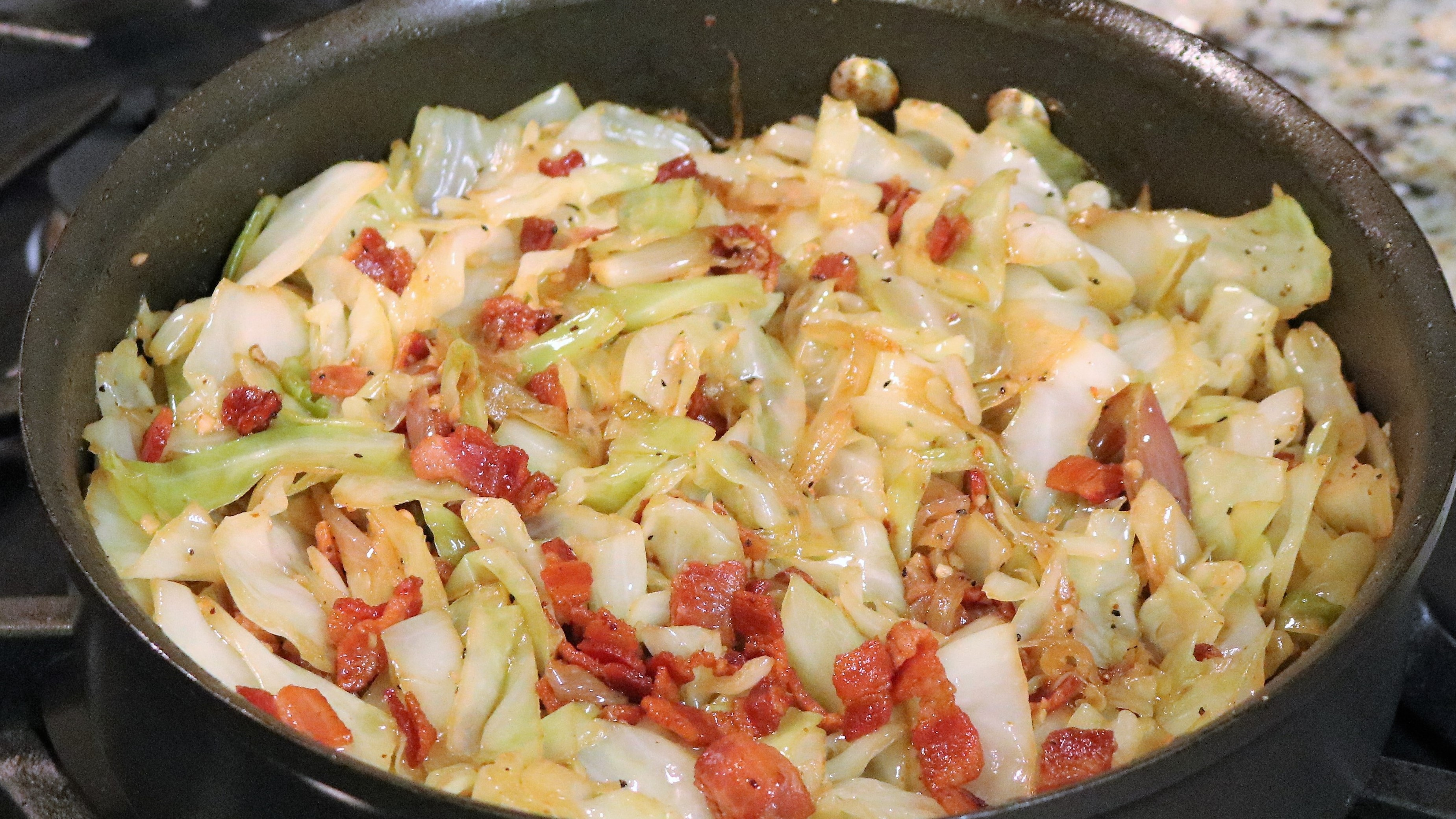 Sauteed Cabbage with Bacon, Onions and Garlic – www ...
